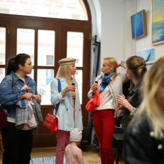 The official opening of the Albina Gorbina gallery in Prague 014