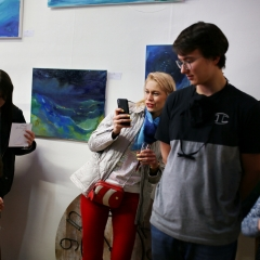 The official opening of the Albina Gorbina gallery in Prague 017