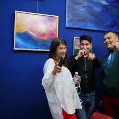 The official opening of the Albina Gorbina gallery in Prague 023