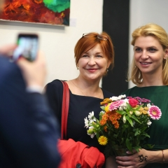 The official opening of the Albina Gorbina gallery in Prague 036