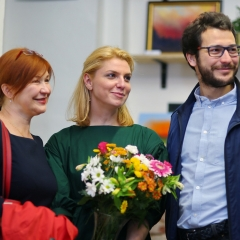 The official opening of the Albina Gorbina gallery in Prague 037
