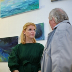 The official opening of the Albina Gorbina gallery in Prague 041