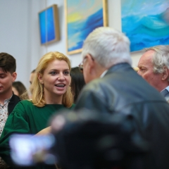The official opening of the Albina Gorbina gallery in Prague 045