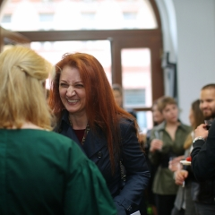 The official opening of the Albina Gorbina gallery in Prague 046