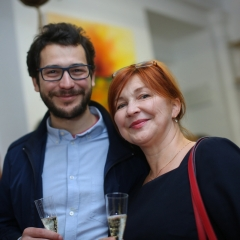 The official opening of the Albina Gorbina gallery in Prague 048