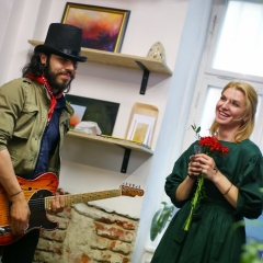 The official opening of the Albina Gorbina gallery in Prague 073
