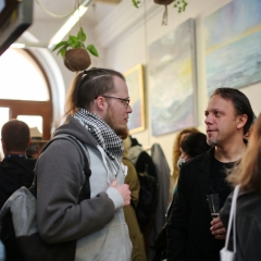 The official opening of the Albina Gorbina gallery in Prague 074