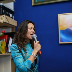 The official opening of the Albina Gorbina gallery in Prague 085