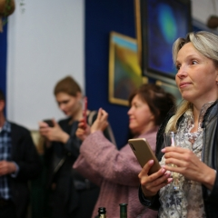 The official opening of the Albina Gorbina gallery in Prague 086