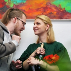 The official opening of the Albina Gorbina gallery in Prague 090