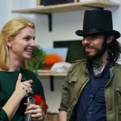 The official opening of the Albina Gorbina gallery in Prague 092